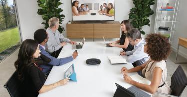 reunião em vídeo-conferência